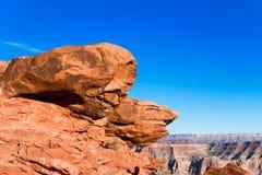 Rochas vermelhas em Grand Canyon, borda ocidental Fotos de Stock