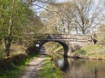 Rochdale-Kanalbrücke nahe Walsden stockbild
