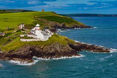 Roche`s Point Lighthouse, Sea View Cork Ireland stock images
