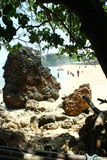 Roche à la plage Photos libres de droits