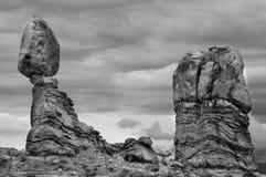 Roche équilibrée, voûtes stationnement national, Utah Image libre de droits