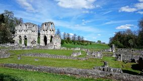 Roche Abbey England United Kingdom. Roche Abbey is a now-ruined abbey in the fields in the south of the civil parish of Maltby, South Yorkshire, England. It is Stock Photography