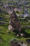 Roche au château d'Uchisar, Cappadocia, Turquie images libres de droits