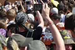 Roche au-dessus de Volga. Fans dans les coulisses Photos libres de droits