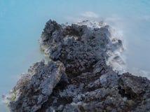 Roche bleue de lagune Photos libres de droits