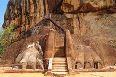 Roche célèbre de Sigiriya. Le Sri Lanka Images libres de droits