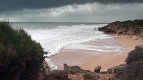 Roche Cove Conil Cadiz Spain stock footage