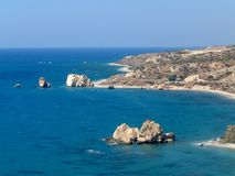 Roche d'Aphrodite Chypre Photo libre de droits