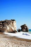 Roche d'Aphrodite, Chypre Images libres de droits