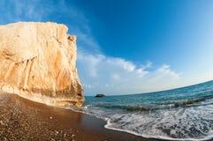 Roche d'Aphrodite cyprus Secteur de Paphos photographie stock libre de droits