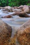 Roche dans le fleuve Photos libres de droits