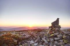 Roche dans les montagnes Photographie stock