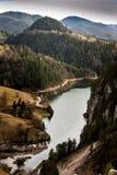 Roche de Banjska de point de vue à la montagne Tara regardant vers le bas au canyon de la rivière de Drina, Serbie occidentale Image libre de droits