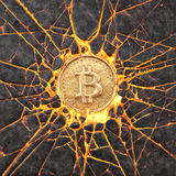 Roche de Bitcoin Photo stock