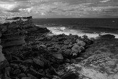 Roche de côte à Sydney du sud Images libres de droits