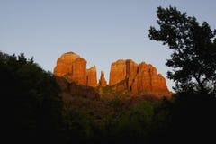 Roche de cathédrale, Sedona Arizona Images libres de droits