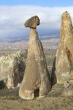 Roche de champignon à proximité de jour de Cappadocia janvier La Turquie Photos libres de droits