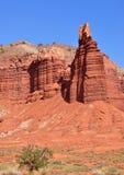 Roche de cheminée, stationnement national de récif de capitol, Utah Images libres de droits