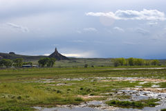 Roche de cheminée, Nébraska Image libre de droits