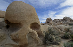 Roche de crâne, Joshua Tree National Park, la Californie, Etats-Unis Photographie stock