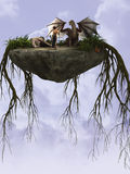 Roche de dragons Photographie stock