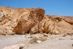 Roche de grès dans le désert Photo stock