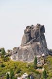 roche de granit de formation seule Photo stock