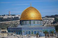 roche de Jérusalem de dôme Photos libres de droits