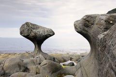 Roche de Kannensteinen en Norvège Photo stock