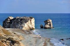 roche de lieu de naissance d'Aphrodite Image libre de droits