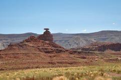 Roche de MexicanHat, Utah, Etats-Unis Images stock