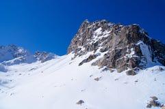 Roche de Milou en Italie dans les montagnes image stock