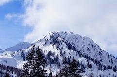 Roche de Milou en Italie dans les montagnes Images stock