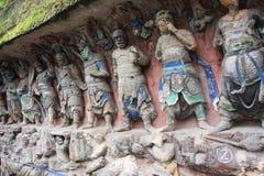 roche de montagne de tintement de dazu de découpages de bao Image libre de droits