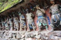roche de montagne de tintement de dazu de découpages de bao Photos stock