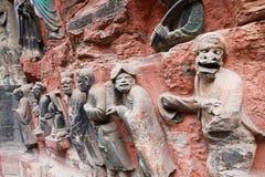 roche de montagne de tintement de dazu de découpages de bao Photographie stock
