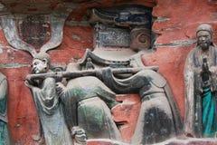 roche de montagne de tintement de dazu de découpages de bao Images libres de droits