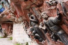 roche de montagne de tintement de dazu de découpages de bao Photographie stock libre de droits