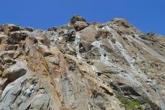 Roche de Morro à la baie la Californie de Morro Photographie stock libre de droits
