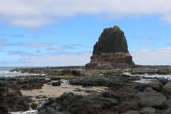 Roche de pupitre au cap Schank sur la péninsule de Mornington, Australie image libre de droits