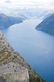 Roche de pupitre en Norvège Images stock