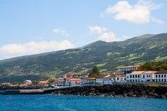 Roche de San de ville sur l'île Pico Images libres de droits