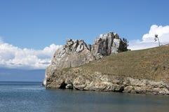 Roche de Shamanka, Baikal Photographie stock
