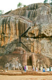 Roche de Sigiriya, Sri Lanka Images stock