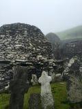 Roche de skellig de Skellig Michael, Irlande Images libres de droits