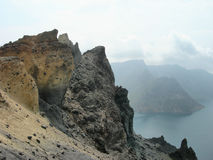 Roche de volcan Images libres de droits
