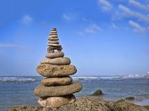 Roche de Zen Like Stone Stack On A photos libres de droits