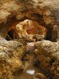 roche du Portugal de plage d'Algarve photo libre de droits