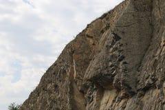 Roche dure angulaire de montagne images stock