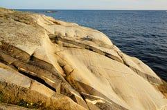 Roche en place de Stangnes la roche la plus ancienne en Norvège Image stock